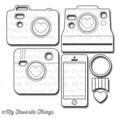 Die-namics Cute Cameras 2            My Favorite Things dies                      $20.99