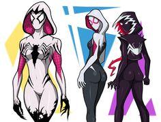 Gwenom things by spaceMAXmarine on DeviantArt Venom Comics, Marvel Venom, Marvel Art, Marvel Dc Comics, Marvel Heroes, Spider Gwen Venom, Marvel Spider Gwen, Spider Art, Spiderman Drawing