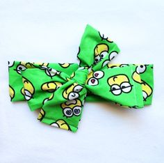 Keroppi Frog Head Wrap // Retro // Soft // Headbands // Head wrap // Headwrap // Top Knot // Green by becrushbows on Etsy