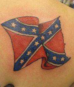 What does rebel flag tattoo mean? We have rebel flag tattoo ideas, designs, symbolism and we explain the meaning behind the tattoo. Rebel Flag Tattoos, I Tattoo, Side Tattoos, Body Art Tattoos, Tatoos, Rose Tattoo On Side, Southern Heritage, Southern Charm, Side Tattoo