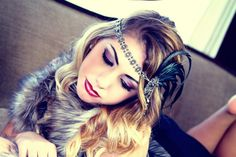 SOLD OUT Silver & Black Flapper Gatsby headband on Etsy, $59.00