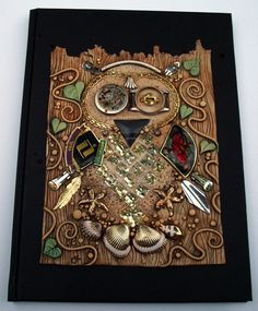 Mosaic Owl Art Journal by MandarinMoon.deviantart.com on @deviantART