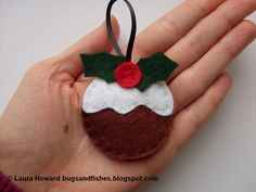 Bugs and Fishes by Lupin: Felt Ornament How-To #3: Christmas Puddings