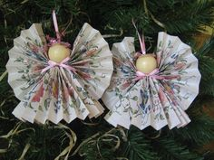 Floral Angel Ornament Paper Ribbon Angel