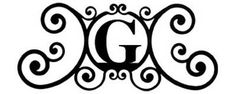 **Emblem finalist #6: letter g monogram | ... Wall Art - Wrought Iron Monogram Over The Door Wall Plaque ~ Letter G
