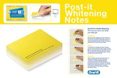 Neat marketing idea using post-it notes