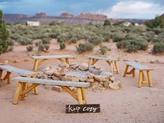 Fire for Smores at Glamping Wedding in Utah Desert  Weddingchella Desert Wedding 'Cause We Can Events: Wedding Planning for the wanderers of the world