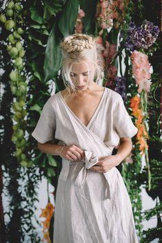 Etsy Maternity dress / Wrap linen dress / Oversized linen dress / Summer dress / Linen dress / Sea green / maternity fashion / maternity clothes / wrap dress / #ad