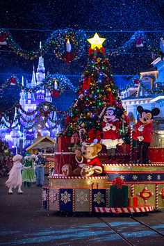 Magic Kingdom - Duffy, Minnie and Mickey Christmas