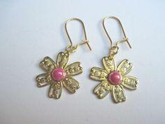 Blume Ohrringe von glastropfen´s Kreativwerkstatt auf DaWanda.com