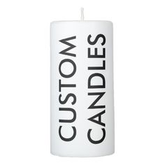 #template - #Custom Personalized Pillar Candle Blank Template