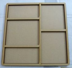Wood 11-1/2x11-1/2 inches layers shadow box no.3