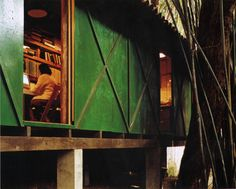 Lina Bo Bardi's amazing office and studio, São Paulo 1986. Scan from here (via subtilitas:)