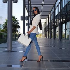 These shoes were made for walking. Photo of @laurabadura Pinned from Stuart Weitzman