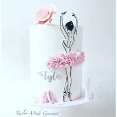 I love everything about this sweet Ballerina cake I made for Tyla's birthday. Happy birthday Tyla and thanks again Liz 😘😘. Pretty Cakes, Cute Cakes, Beautiful Cakes, Ballerina Birthday Parties, Girl Birthday, Happy Birthday, Ballarina Cake, Dancer Cake, Ballet Cakes