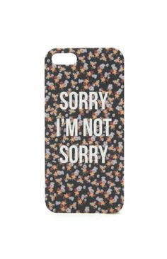 With Love From CA Sorry Not Sorry iPhone 5/5S Case #pacsun