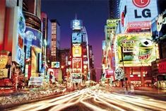Times Square- New York 36 in. Buy This New York Poster! Oh The Places You'll Go, Places To Travel, Places Ive Been, Places To Visit, Travel Destinations, New York Poster, Times Square New York, City That Never Sleeps, City Lights