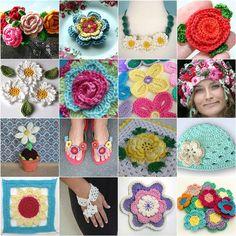 crocheted flowers by dutch blue, via Flickr