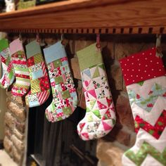 Our Christmas stockings. Names still to come!