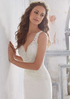Designer Wedding Dresses And Bridal Gowns By Morilee Clic Sheath Gown With Crystal Beaded