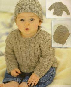 Sirdar Knitting Patterns, Baby Boy Knitting Patterns, Baby Sweater Patterns, Baby Cardigan Knitting Pattern, Knitting For Kids, Baby Patterns, Free Knitting, Beginner Knitting, Baby Boy Sweater