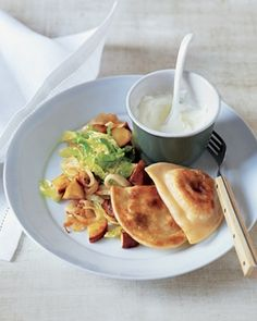 Potato Pierogi With Sautéed Cabbage and Apples by Real Simple