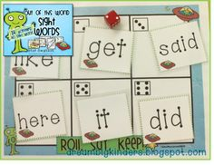 Roll, Say, Keep! 40 Beginning Sight Words This is a fun partner sight word activity OR small group sight word activity.  FREEBIE if you scroll to the bottom! :)