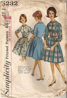 Vintage 1963 Simplicity Misses One-Piece by pocketfuloftreasures