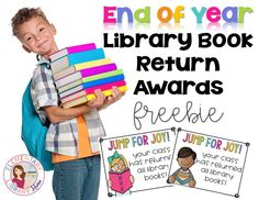 Free signs to post on class doors when students return all of their library books!