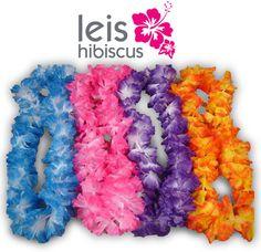 Hawaiian Necklace Leis (24) Lei Flower Decorations Crafts Silk Like Luau Party $13.78