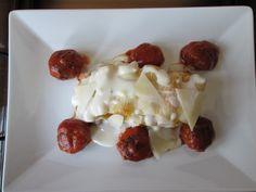 Pasta  Rigatoni  au  four   avec  fromage   et   boulettes  de veau  tomate  Gino D'Aquino