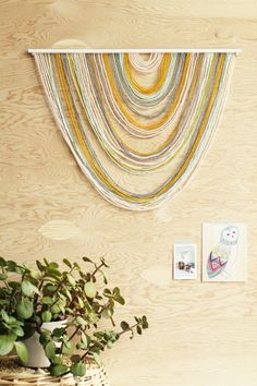Seriously Sleek: 10 Stylish Home DIY Projects that Look Like Expensive Store-Bought Items! Seriously Sleek: 10 Stylish Home DIY Projects that Look Like Expensive Store-Bought Items! Yarn Wall Art, Metal Tree Wall Art, Yarn Wall Hanging, Diy Wall Art, Wall Hangings, Hanging Fabric, Cool Wall Art, Hanging Banner, Fabric Wall Art