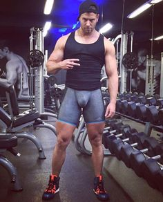 bulges, musclemen, lycra and bearded men ... : Photo