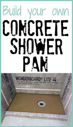 Build your own concrete shower pan -- it isn't nearly as hard as you think! #DIYHomeDecorationTips