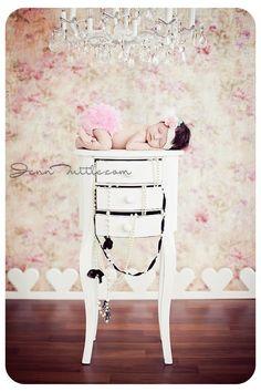 Vintage inspired newborn shoot