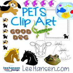 Favorite pets and wild animals clip art collectionwith graphics by Lee Hansen Dog Words, Tropical Fish, Pictures Images, Wild Animals, Word Art, Best Dogs, Clip Art, Classroom, Scrapbook
