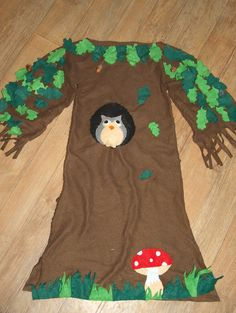 déguisement carnaval theme foret,arbre maternelle Owl Costume Diy, Gnome Costume, Tree Costume, Theme Carnaval, Costume Carnaval, Halloween Items, Diy Halloween Costumes, School Costume, Fancy Dress For Kids