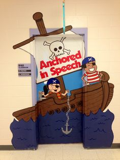 """""""Anchored in Learning"""" speech therapy school classroom door decoration"""