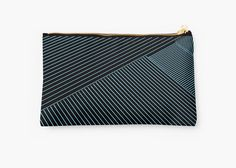 20% off Tote Bags, Studio Pouches, & Drawstring Bags. Cool beans. Use COFFEE20 at checkout. Line Art - Geometric Illusion, abstraction no. 3 by cool-shirts #lines #art #stripes #pouch #design #trending