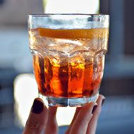 Bourbon Aperol drink ~ Sipping on a Sunset, Italy in Mind via NYTimes.com