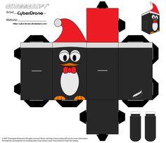 Caja pingüino