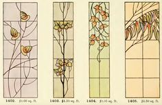 Leaded Glass from International Art Glass Catalogue by National Ornamental Glass Manufacturers Association of the United States and Canada, published in Stained Glass Church, Stained Glass Quilt, Stained Glass Designs, Stained Glass Panels, Stained Glass Projects, Stained Glass Patterns, Leaded Glass, Mosaic Diy, Mosaic Glass