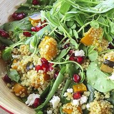 Made the app's 'Roasted pumpkin + quinoa + pomegranate salad' for lunch today.. Mumma and my brother loved it with a side of grilled chicken breast. Super tasty! #nourishyourselfapp