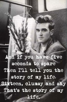 #Morrissey, my favorite ever ever ever Smiths track. Except Paint A Vulgar Picture.