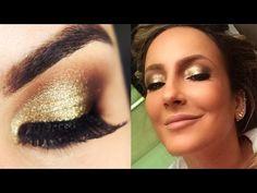 Tutorial Maquiagem Dourada da Claudia Leitte - YouTube