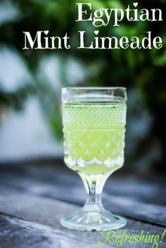 The tastes and flavors of the Middle East are hard to beat, and this Egyptian Mint Limeade is no exception. I traveled to Egypt in 2006 and was pleasantly reminded of this refreshingly tangy beverage while recently visiting friends. Egyptian Party, Egyptian Food, Egyptian Recipes, Egyptian Desserts, Chinese Recipes, Ethnic Recipes, Refreshing Drinks, Summer Drinks, Cold Drinks