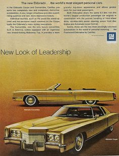1971 Cadillac Eldorado Convertible and Coupe