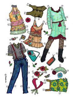 Karen`s Paper Dolls: Susanne 1-6 Paper Doll in Colours.Susanne 1-6…