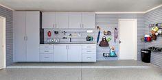 Custom garage complete with slatwall organization