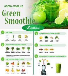 Cómo preparar un batido verde paso a paso #vegano #vegan #vegetariano #batidoverde #greensmoothie #saludable #sano #healthy
